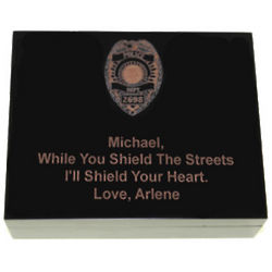 I'll Shield Your Heart Law Enforcement Memory Box