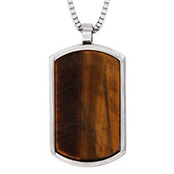Personalized Designer Inspired Tigers Eye Dog Tag