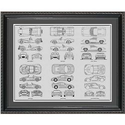 Lotus Blueprint Collection Framed Print