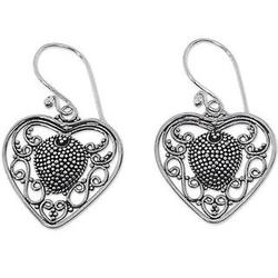 Center of My Heart Sterling Silver Dangle Earrings