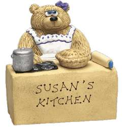 Cook Mommy Teddy Bear in Kitchen