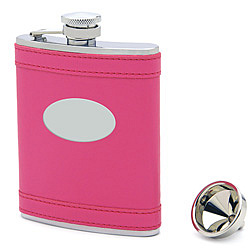 Engravable Pretty in Hot Pink Flask