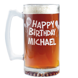 Personalized Giant Birthday Beer Mug