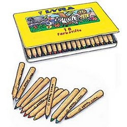 "18-Piece 7"" Chubby Pencil Set in Tin Case"