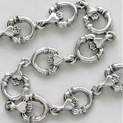 Sterling Silver Round Claddagh Bracelet