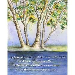 Autumn Tree II Personalized Art Print