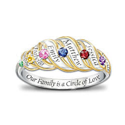 Circle of Love Sterling Silver Personalized Ring
