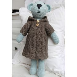 Organic Cotton Hand-Knit Bear