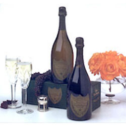 Dom Perignon with 2 Crystal Flutes