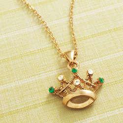 Irish Princess Crown Necklace