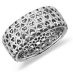Sterling Silver Infinite Hearts Ring