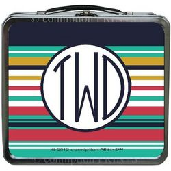 Monogram Stripe Design Lunch Box