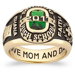 Women's Yellow Celebrium Personalized Traditional Class Ring