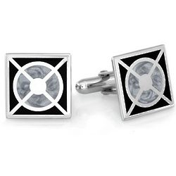 Sterling Silver Bullseye Cufflinks