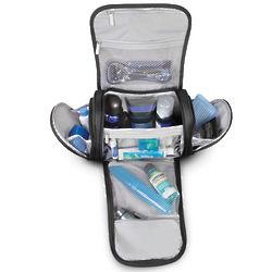 Nylon Toiletry Bag with Internal Shelf