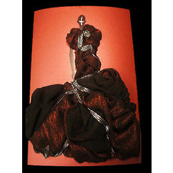 Hera 3 Dimensional Couture Dress Greeting Card