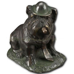 Smoking Bulldog Statue
