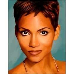 Halle Berry Pop Art Print