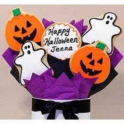 5 Piece Happy Halloween Cookie Bouquet