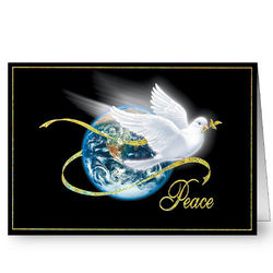 Personalized Peace Holiday Christmas Cards