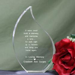 Memorial Tear Drop Plaque