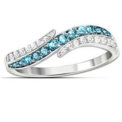 Tranquil Reflections Contemporary Diamonesk Ring