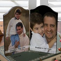 Men's Personalized Folding Picture Message Double Plaque