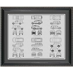 Land Rover Blueprint Collection Framed Print