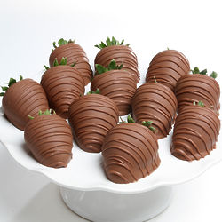 6 Classic Milk Chocolate Covered Strawberries