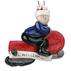 Personalized Snowmobile Christmas Ornament