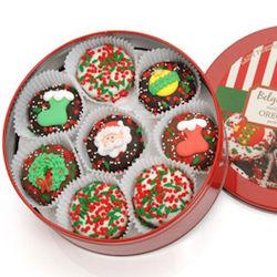 Christmas Chocolate Covered Oreo Tin