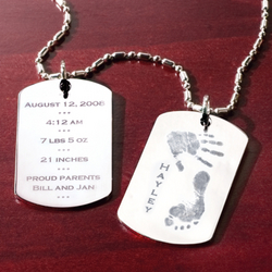 Personalized Baby Dog Tag with Chain