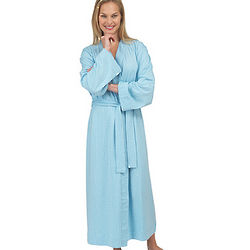 Oh-So-Soft Powder Blue Pin Dot Robe