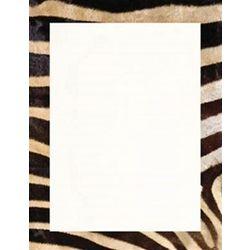Zebra Print Stationery Paper