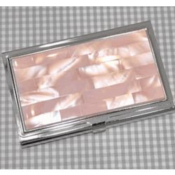 Palisades Mother of Pearl Business Card Case