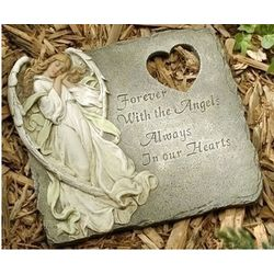 Forever With the Angels Memorial Stepping Stone
