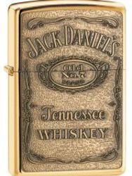 Zippo Windproof Jack Daniels Label Brass Emblem Lighter