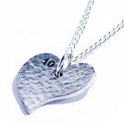 Tenth Anniversary Pure Tin Heart Pendant
