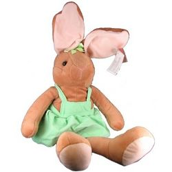 Candy the Plush Bunny in a Green Jumper