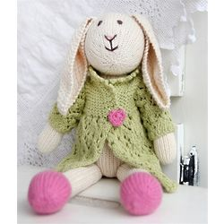 Organic Cotton Hand-Knit Bunny