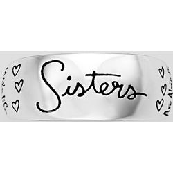 Sterling Silver Sisters Ring