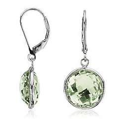 Faceted Green Quartz Earrings
