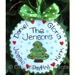 Family Christmas Tree Personalized Ornament