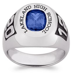 Celebrium Men's Birthstone and Year Class Ring