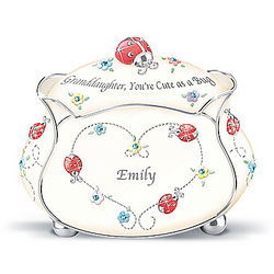 Cute as a Bug Personalized Granddaughter Music Box