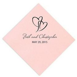Intertwined Hearts Napkins