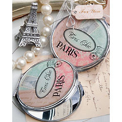 Paris Themed Compact Mirror