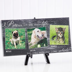 My Pets Personalized Three Photo Canvas