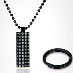 Pure Titanium 16GB USB Flash Drive Necklace Key Chain