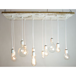 White Texan Barnwood Chandelier